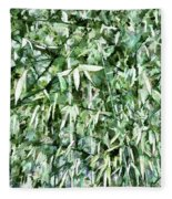 Bamboo Forest In South Carolina Fleece Blanket