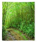 Bamboo Forest Trail Fleece Blanket