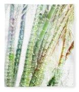 Bamboo Forest Watercolor Fleece Blanket
