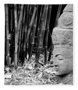 Bamboo Landscape  Statue Asian  Fleece Blanket