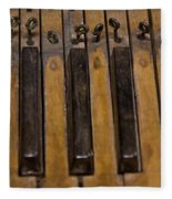 Bamboo Organ Keys Fleece Blanket