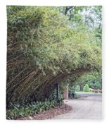 Bamboo Overhang Path  Fleece Blanket