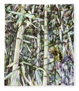 Bamboo Sprouts Forest Fleece Blanket