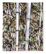 Bamboo Stalks Fleece Blanket
