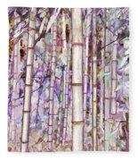 Bamboo Texture Fleece Blanket