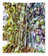 Bamboo Trees In Park Fleece Blanket
