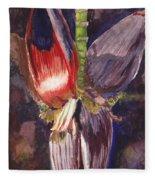 Banana Bloom Fleece Blanket