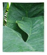 Banana Leaves Fleece Blanket