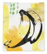 Bananas- Art By Linda Woods Fleece Blanket