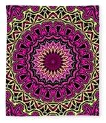 Band Of Gold Mandala Fleece Blanket