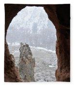 Bandelier Indian Ruins Fleece Blanket