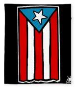 Bandera De Puerto Rico Fleece Blanket