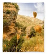 Bandit Country Near The Edge Of The Fan In Ronda Area Andalucia Spain  Fleece Blanket