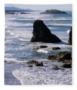 Bandon Beach 2 Fleece Blanket