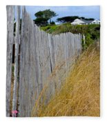 Bandon Beach Fence Fleece Blanket