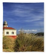 Bandon Coquille River Lighthouse Fleece Blanket
