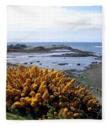 Bandon Harbor Entrance Fleece Blanket