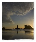 Bandon Sunset 4 Fleece Blanket