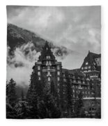 Banff Fairmont Springs Hotel Fleece Blanket