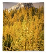 Banff Golden Larch Dream World Fleece Blanket