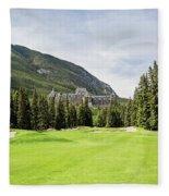 Banff Springs Golf And The Castle Fleece Blanket