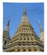 Bangkok, Wat Po Fleece Blanket