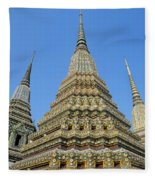 Bangkok, Wat Po Fleece Blanket