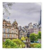 Bank Of Scotland And Skyline Edinburgh Fleece Blanket
