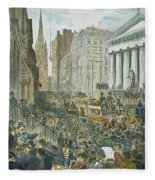Bank Panic, 1884 Fleece Blanket