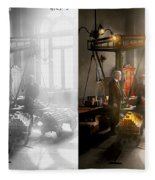 Banker - Worth Its Weight In Gold 1917 Side By Side Fleece Blanket