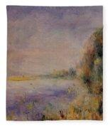 Banks Of The River 1876 Fleece Blanket