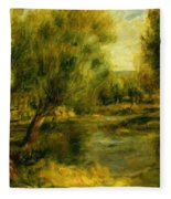 Banks Of The River Fleece Blanket