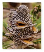 Banksia Cone Fleece Blanket