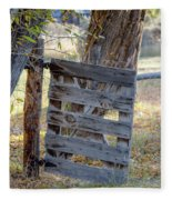 Bannack Gate At Sunrise Fleece Blanket