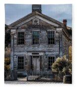 Bannack School House Fleece Blanket