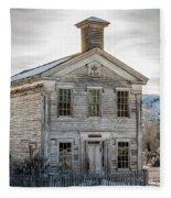 Bannack Schoolhouse And Masonic Temple Fleece Blanket