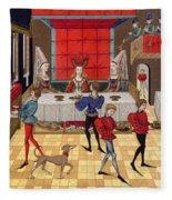 Banquet, 15th Century Fleece Blanket