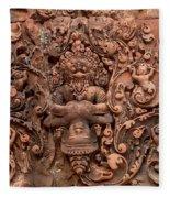 Banteay Srei Bas Relief Carvings - Cambodia Fleece Blanket