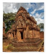 Banteay Srei Mandapa Sanctuary - Cambodia Fleece Blanket