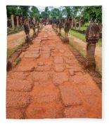 Banteay Srei Red Sandstone Road - Cambodia Fleece Blanket