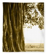 Banyan Surfer - Triptych  Part 2 Of 3 Fleece Blanket