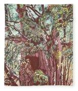Baoba In Foliage Fleece Blanket