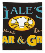 Bar And Grill Sign Fleece Blanket
