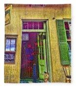 Bar Scene French Quarter New Orleans Fleece Blanket