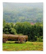Baraboo Hillside Fleece Blanket