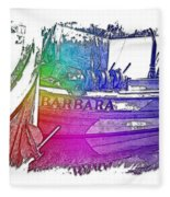 Barbara Cool Rainbow 3 Dimensional Fleece Blanket