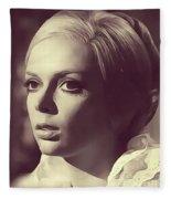 Barbara Steele, Vintage Actress Fleece Blanket