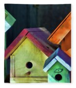 Barbara's Birdhouses Fleece Blanket