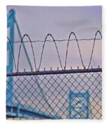 Barbed Wire Bridge Fleece Blanket