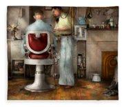 Barber - Our Family Barber 1935 Fleece Blanket